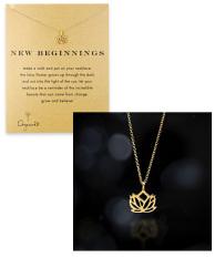 DOGEARED Emas Produk Asli Ulang Tahun Lotus Kalung