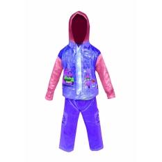 Dolphin Kid Jas Hujan Anak Anak Setelan Baju Celana Tipe 940 - Biru