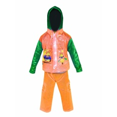 Dolphin Kid Jas Hujan Anak Anak Setelan Baju Celana Tipe 940 - Orange puzzisyukur