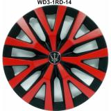 Jual Dop Roda Mobil Wd3 1Rd 14 Inch Black Red Sport Wheel Cover Evolution Design Siv Asli
