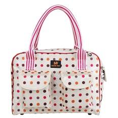 Dot Bunga Pembawa Hewan Peliharaan Anjing Kecil Kolam Tas Tote Bag Handbag Portabel Kualitas Tinggi CW-052WE1-S