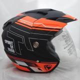 Harga Hemat Double Visor Helm Dmn R 9 Black Doff Orange