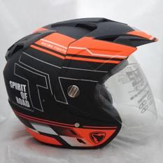 Spesifikasi Double Visor Helm Dmn R 9 Black Doff Orange No Brand