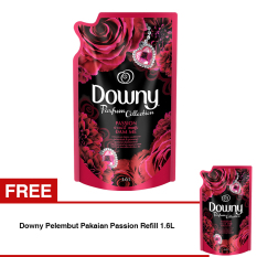 Promo Downy Pelembut Pakaian Passion Refill 1 6L Beli 1 Gratis 1 Del Downy Terbaru