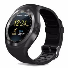 Dream, Smart Watch Y1 Smartwatch Phone Sport Fitness Bluetooth Pedometer Tracker Waterproof SIM TF for Android - Black