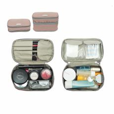 D'renbellony Expandable Cosmetic Pouch Khaki / Cosmetic bag organizer / Tempat Kosmetik