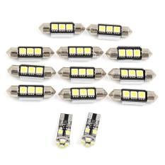 Dsstyles 13 Pcs Putih Mobil Kubah Membaca LED Interior Ringan untuk Audi A8/S8 (D3) 2002-2009 Putih