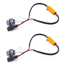 DSstyles 2pcs 50W 8ohm 7440 Led Load Resistors Connector Fix Turn Signal Bulb DRL Error Free Decoder