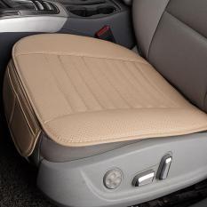 Dsstylesbreathable PU Kulit Arang Bambu Interior Mobil Kursi Sarung Bantalan Alas untuk Otomatis Persediaan Kursi Kantor Kuning