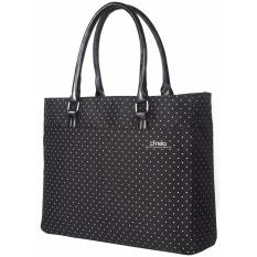 DTBG Women Casual Shoulder Handbag Laptop Case D8209W 15.6 Inch - Hitam/Putih Dot