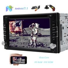 Ganda Kamera-Dalam! android 7.1 Nougat Mobil DVD Pemutar 2 DIN Dalam Dash Kepala Unit dengan Kapasitif Layar Sentuh Resolusi Tinggi 1024*600 navigasi GPS CD Pemutar Mendukung WIFI OBD Bluetooth SWC & USB Dalam Pasang-Internasional