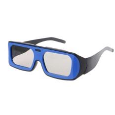 Ganda Warna Bingkai Bundar Terpolarisasi Pasif 3D Stereo Kacamata untuk Nyata D 3D Bioskop Bioskop (Hitam)-Internasional
