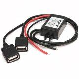 Beli Dual Double 2 Usb Dc Dc Mobil Converter Modul 12 V For 5 V 3A 15 W Power Adapter Intl Oem Online