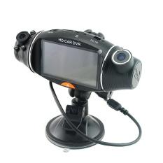 Dual Lens Di Car Kamera Video Daftar Perekam DVR CAM G-sensor GPS Logger AU-NZ-Intl