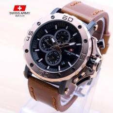 Dubai Watches Swiss Army HDC+ Jam Tangan Fashion Pria Terbaru - Tali Kulit