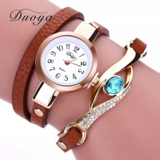 Jual Duoya Fashion Leather Quartz Smart Wanita Watch Intl