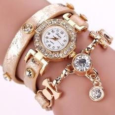 Spesifikasi Duoya Hot Sale Fashion Mewah Liontin Kristal Wanita Watches Wanita Jam Gelang Jam Tangan Wanita Gold Intl Dan Harga