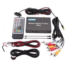 DVB-T HD/SD Mobile Car Kotak TV Digital Analog TV Tuner High Speed 240 Km/h Penerima Sinyal Kuat- INTL