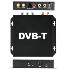 DVB-T Various Channel Mobile Car Digital TV Box Analog Mini TV Tuner High Speed 240km/h Strong Signal Receiver for Car Monitor - intl