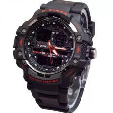 Toko Dziner Dual Time Jam Tangan Pria Rubber Strap Dz 8078Art Black Terlengkap Dki Jakarta