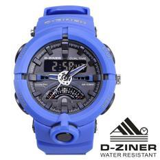 Beli Dziner Dual Time Jam Tangan Sport Pria Rubber Strap Dz 3953Ds Kredit Dki Jakarta