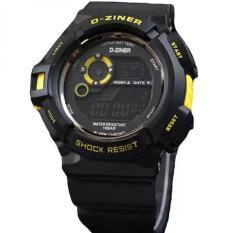 Harga Dziner Digital Jam Tangan Sport Pria Rubber Strap Dz8016Art Yellow Seken