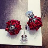 Jual Amerika Serikat Tahun Baru Bunga Merah Hydrangea Anting Anting Oem Original