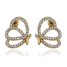 E916 WholesaleNickle Gratis Antiallergic18K Nyata Dibalut Emas Giwang untuk Women Baru Fashion Perhiasan-Intl