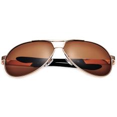 Beli Easbuy Men Polarized Sunglasses Aviator Driving Outdoor Sports Eyewear Sun Glasses Golden Online Terpercaya