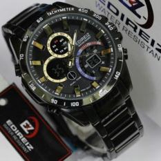 Toko Edireiz 8106 Bg Jam Tangan Pria Hitam Lengkap Jawa Timur