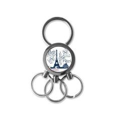 Menara Eiffel France Paris Gambar Garis Logam Key Chain Cincin Mobil Keychain Creative Trinket Keyring Kebaruan Item Pesona Hadiah Terbaik -Intl