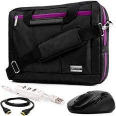 El Prado 3-Dalam-1 Hibrida Ungu Memangkas Laptop Tas W/3 PC Aksesori Bundel UNTUK Dell inspiron/Latitude/Alienware/XPS/Workstation Seluler Presisi 14