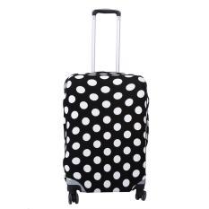 Spesifikasi Elastis Dust Proof Travel Kantong Pelindung Menutupi Bagasi Pelindung Hitam Putih Dots M22 24 Intl