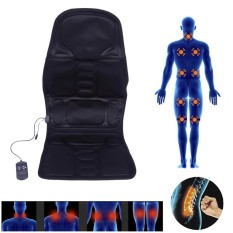 Electric Back Neck Massage Chair Seat Auto Car Home Office Full-Body Lumbar Massage Chair Relaxation Anti Stress Pad Seat Heat EU