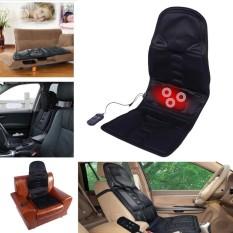 Electric Leher Belakang Kursi Pijat Kursi Auto Car Home Office Full-body Lumbar Kursi Pijat Relaksasi Anti Stress Pad Seat Heat Inggris-Internasional