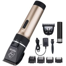 Electric Low-noise Animal Pets Care Dog Cat HairClipperRechargeableClippers Trimmer Shaver Gold - intl