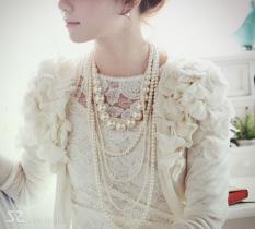 Spesifikasi Elegan Korea Fashion Style Mempelai Wanita Mewah Dan Cantik Kalung Mutiara Murah