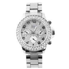 Beli Elegant Geneva Bling Womens Bangle Bracelet Band Rhinestone Quartz Wrist Watch Intl Oem Asli