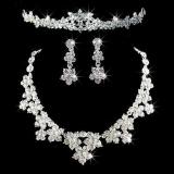 Review Pada Mewah Elegan Anting Anting Kalung Imitasi Diamante Crown Mengatur Pernikahan