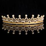 Toko Kristal Berlian Imitasi Mutiara Pernikahan Elegan Prom Tiara Mahkota Pegeant Ikat Kepala Emas Oem Online