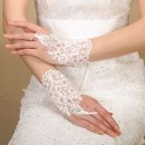 Beli Elegan Pendek Sarung Renda Mutiara Sarung Tangan Pernikahan Pesta Kostum Pengantin Intl Kredit Tiongkok