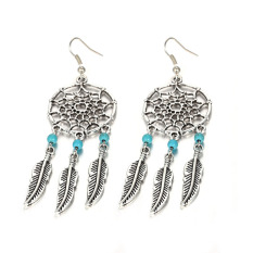 Elegan Rumbai Liontin Earring Girl Eardrop Menjuntai Dreamcatcher Earrings