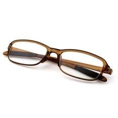 Elife + 1.50 Unisex Resin Fleksibel Pembaca Kekuatan Presbyopic Membaca  Kacamata (Teh) 312bfb30c0