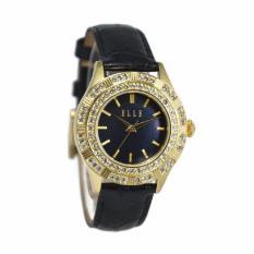 Elle EL20389S04N Jam Tangan Wanita - Hitam Ring Gold
