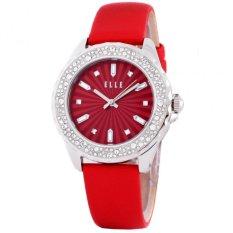 Elle - Jam Tangan Wanita - Merah - Tali Kulit  - El20341S06C