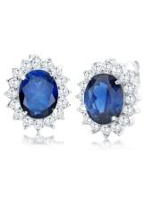 Spesifikasi Elli Germany 925 Sterling Silver Anting Blue Sapphire And Zirconia Biru Murah