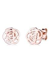 Elli Germany 925 Sterling Silver Anting Lapis Emas Flower Swarovski Crystals Rosegold Rosegold