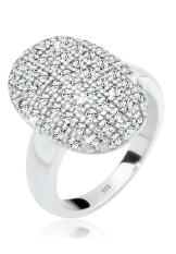 Cuci Gudang Elli Germany 925 Sterling Silver Cincin Twilight Swarovski® Crystals Putih