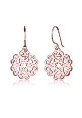 Review Terbaik Elli Germany 925 Sterling Silver Anting Ornament Heart Star Floral Rosegold