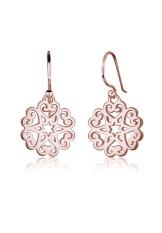 Harga Elli Germany 925 Sterling Silver Anting Ornament Heart Star Floral Rosegold Murah